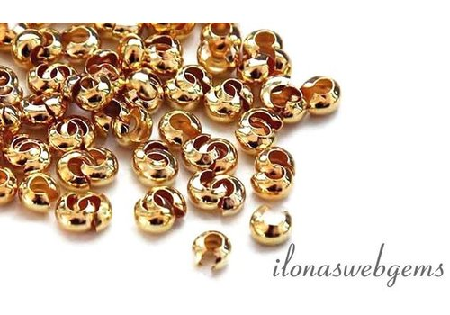 14k / 20 Gold-filled squeeze bead approx. 2.4mm