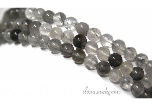 Grau Quarz Perlen über 6.5mm