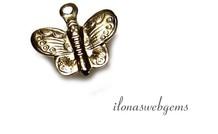 14k/20 Gold filled bedeltje vlinder