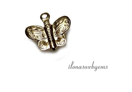 Gold filled Mini Schmuck Anhänger vlinder ca. 11x10mm