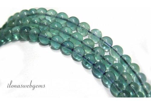 Fluorit Perlen etwa 8mm