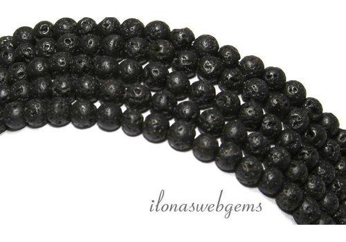 Lava stone beads around 6mm