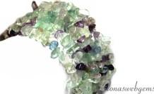 Fluorit Perlen gespalten ca. 7mm