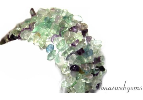 Fluorite beads split approximately 7mm