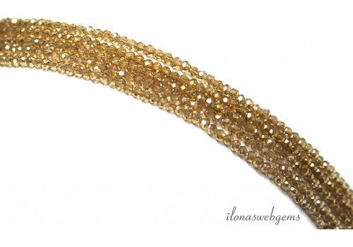 Swarovski style kristal kralen ca. 2.5x1.5mm