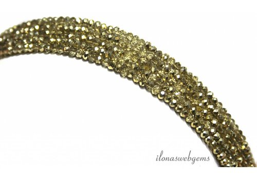 Swarovski style crystal beads about 3x2mm