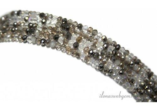 Swarovski style kristal kralen ca. 3.5x2.5mm