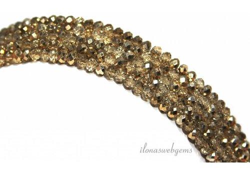 Swarovski style kristal kralen ca. 4x3mm