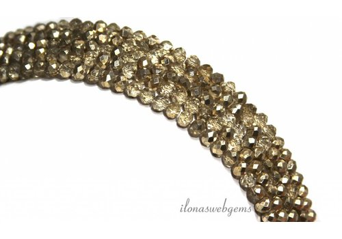 Swarovski style crystal beads about 4x3mm
