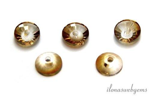 Swarovski style kristal kralen ca. 6x2.5mm