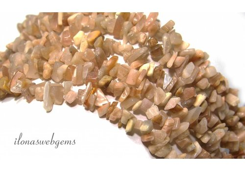 Maansteen split beads fine ca. 5mm