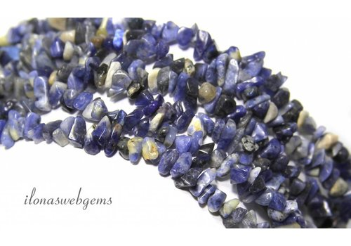Sodalite beads finely split approximately 5mm