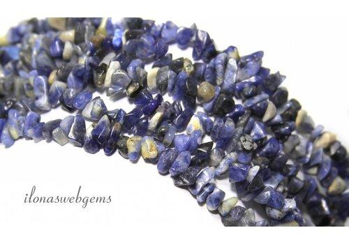 Sodalith Perlen aufgespalten fein ca. 5mm