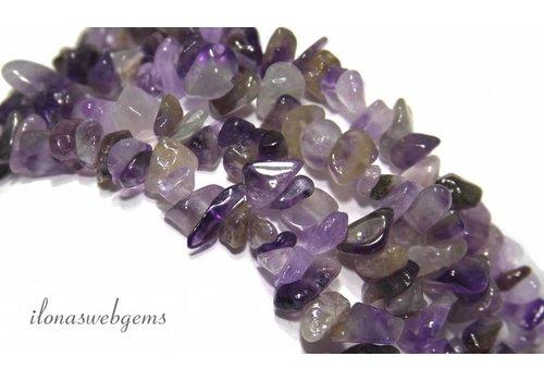 Amethyst split beads about 7mm