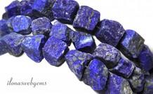 Lapis Lazuli kralen rough ca. 19x14mm A kwaliteit
