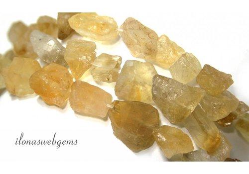 Citrine Beads rough around 14-19x10mm