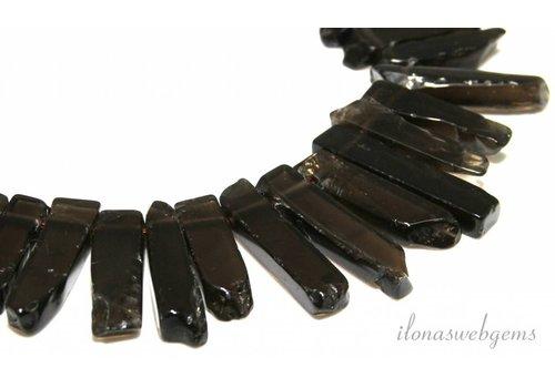 Smoky Quartz beads side drill choker