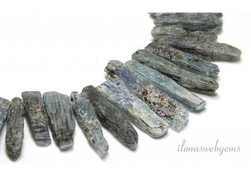Kyanite Perlen 'grobe' Seite bohren Halsband