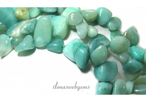 Amazonite beads side drill 'globe'