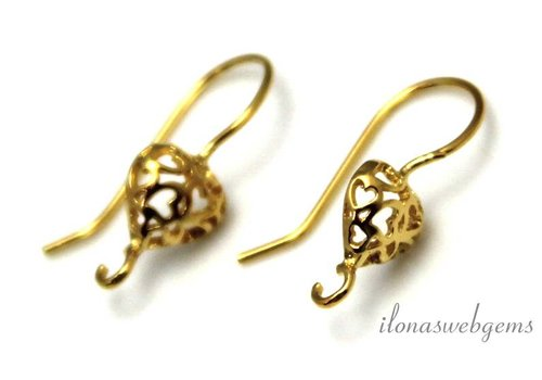 The first pair of brackets Vermeil earring