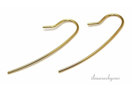 1 pair of Vermeil earring hooks