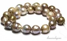Baroque / Baroque pearls natural about 14-19x14mm