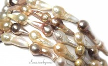 Baroque / Baroque pearls about 22x10mm