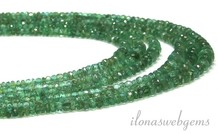 Emerald beads facet roundel