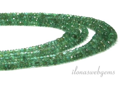 Emerald beads facet roundel AAA quality