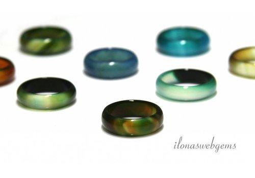 2 pieces Agaat ring mix