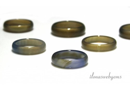 5 pieces agaat ring mix
