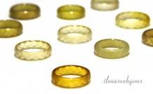 3 Stücke Facette Agate Ring mix