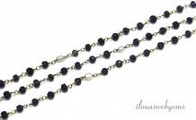 10cm Vermeil Halskette mit Perlen und Perlen Sapphire