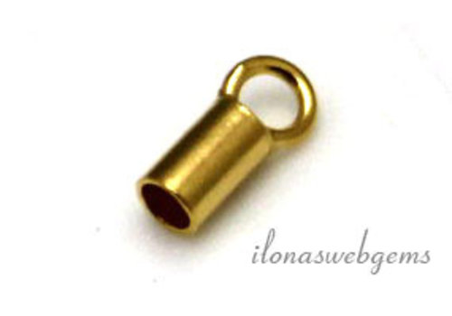 Vermeil end cap 2mm