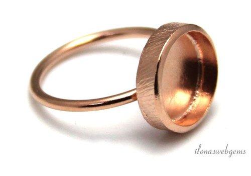 Rose Vermeil Ring für Cabochon 12mm