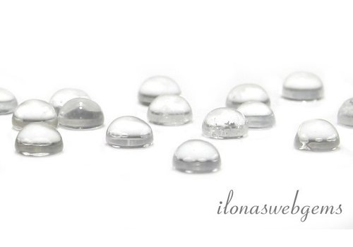 Rock crystal cabochon 10mm