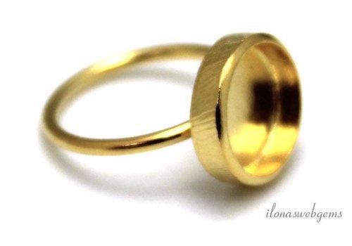 Vermeil ring voor cabochon 12mm