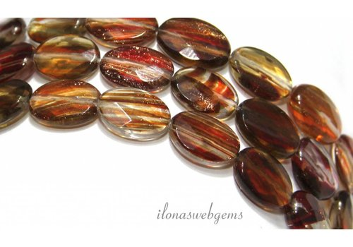 Goldstone beads facet ca.15x6mm