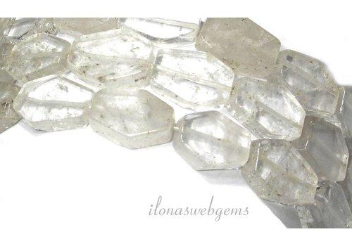 Bergkristal kralen 18x16x6mm