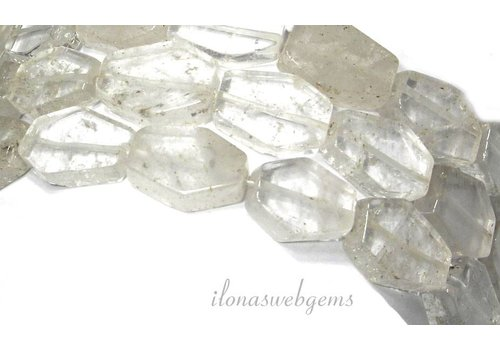 Mountain crystal beads 18x16x6mm