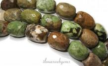 Grüne Opal facettierte Perlen über 17x13mm