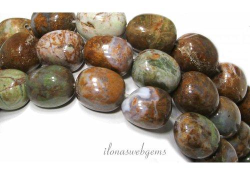 Groene Opaal kralen ca. 21x16mm