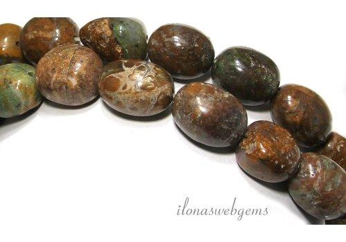 Groene Opaal kralen ca. 18x14mm