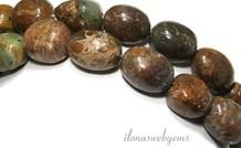 Grüne Opal Perlen über 18x15mm