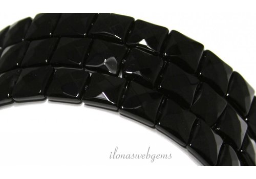 Onyx beads facet square approx. 10mm