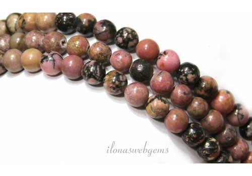 Rhodonite beads around about 6.5mm