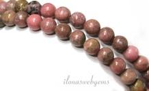 Rhodonit Perlen etwa 6,5 mm