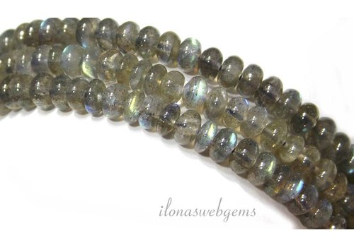 Labradorite beads round about 6.5x4mm