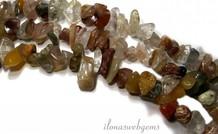 Indian Achat Perlen aufgespalten etwa 7mm