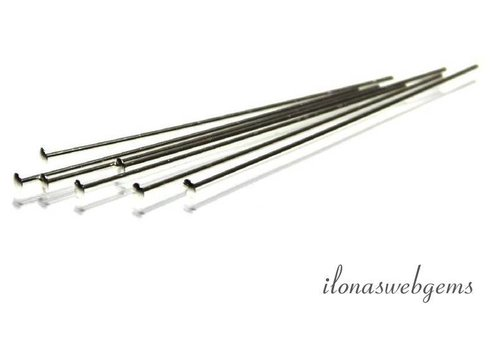 Sterling Silber Stift mit flachem Kopf über 38x0.5mm